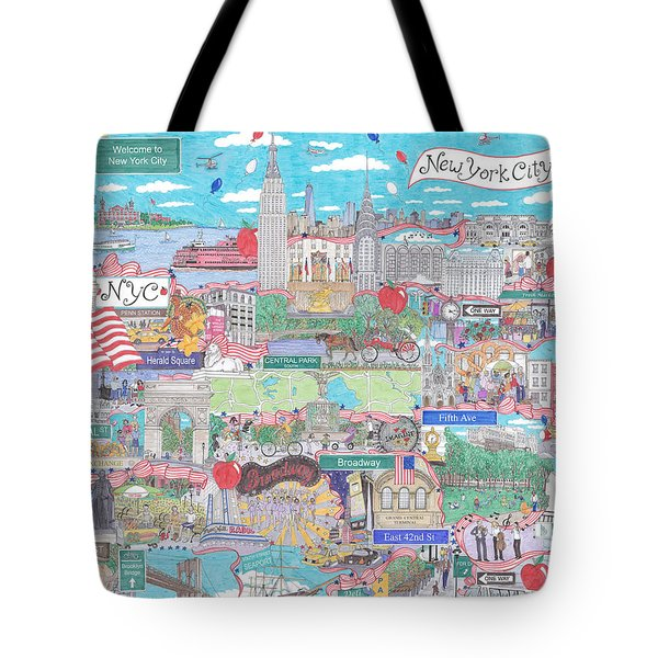 New York City On A Sunny Day Tote Bag