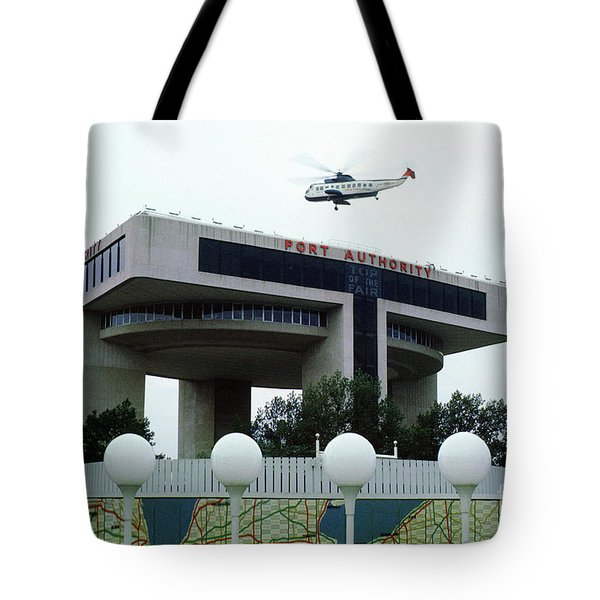 New York City Port Authority Helicopter Pad, New York World's Fa Tote Bag