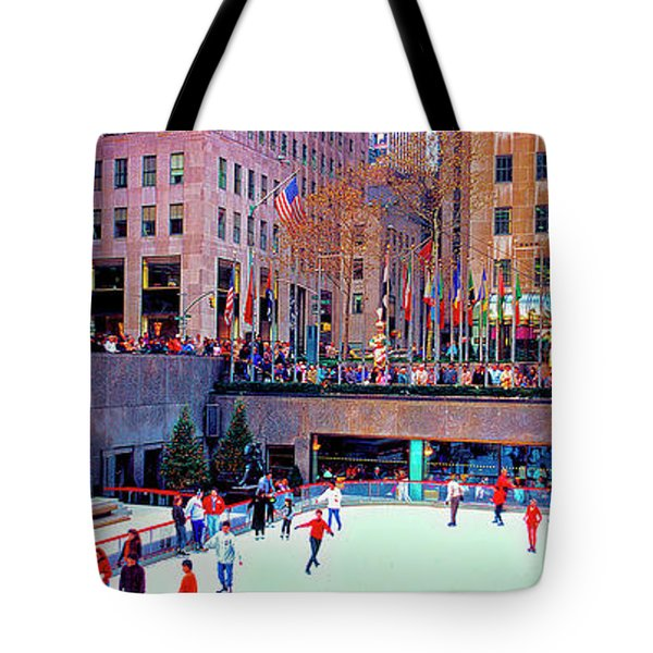 New York City Rockefeller Center Ice Rink  Tote Bag
