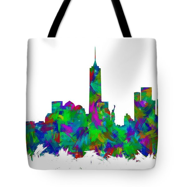 New York City Skyline Abstract Silhouette I Tote Bag