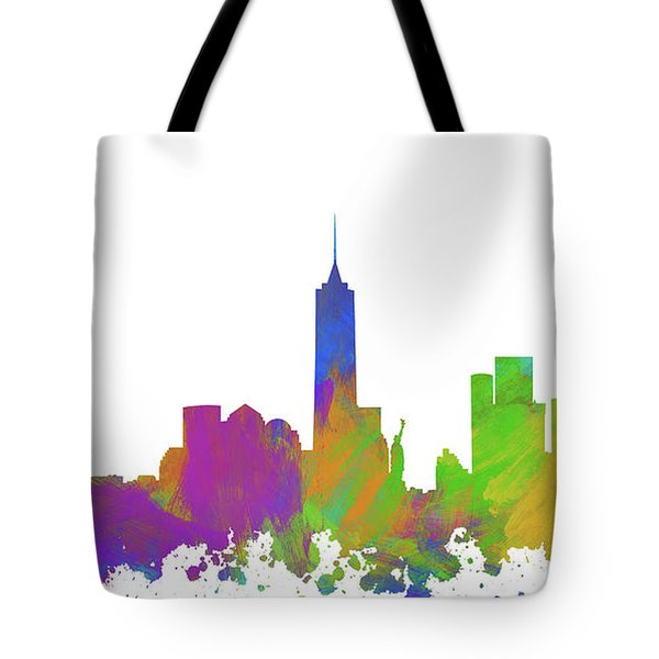 New York City Skyline Silhouette V Tote Bag