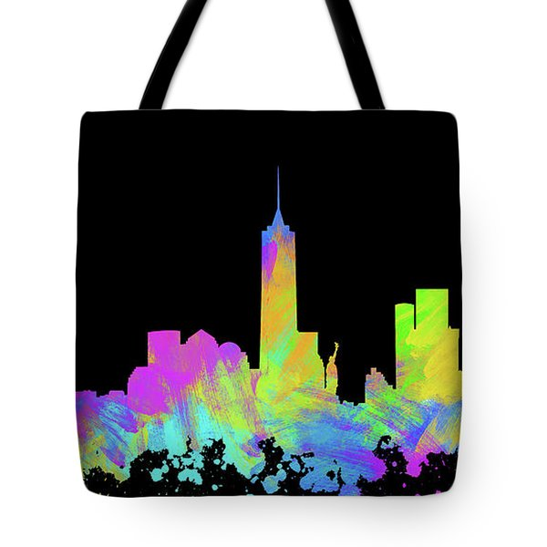 New York City Skyline Silhouette Vi Tote Bag