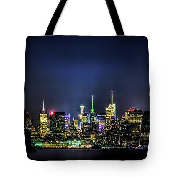 Tote Bag featuring the photograph New York City Skyline by Theodore Jones