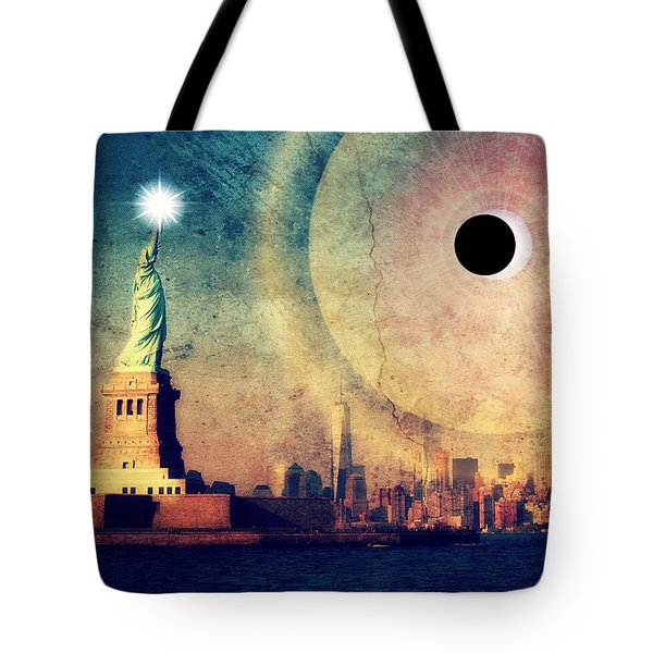 New York City Solar Eclipse 2017 II Tote Bag