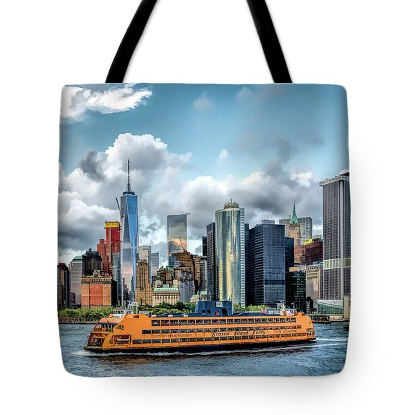 New York City Staten Island Ferry Tote Bag