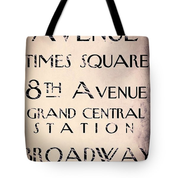 New York City Street Sign Tote Bag