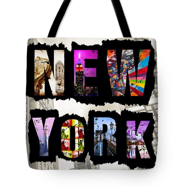 New York City Text Tote Bag