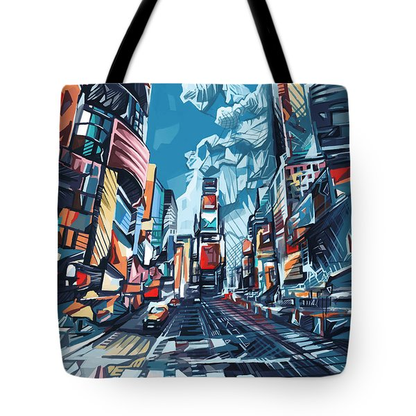 New York City-times Square Tote Bag