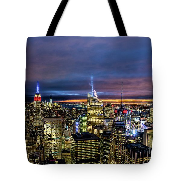 New York City Twilight Tote Bag