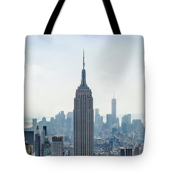 New York Classic View With Text Tote Bag