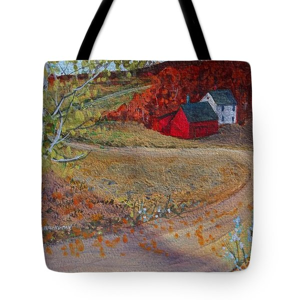 New York Fall Valley Tote Bag