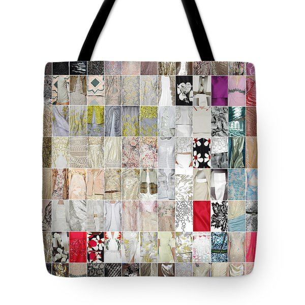 Tote Bag featuring the photograph New York Fashion Week 2015 Runway Detail Wall Hanging by Gregg Cestaro