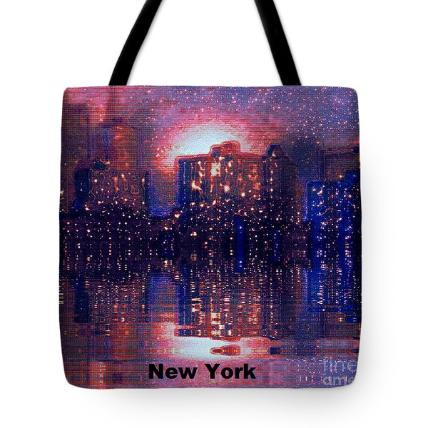 Tote Bag featuring the photograph New York by Holly Martinson