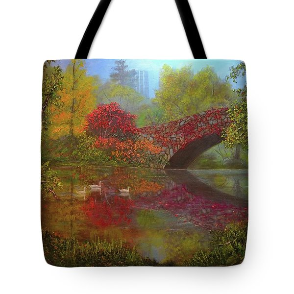 New York In Fall Tote Bag