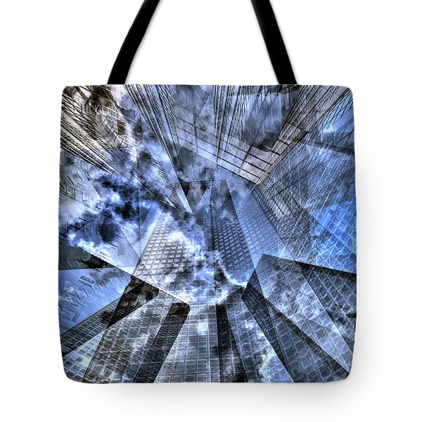New York Iris Collage Tote Bag