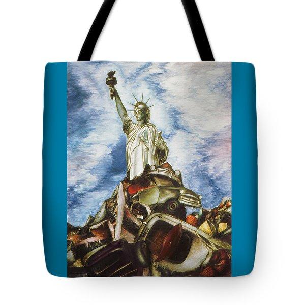 New York Liberty 77 - Fantasy Art Painting Tote Bag