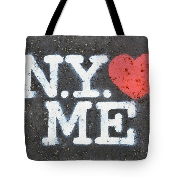 New York Loves Me Stencil Tote Bag