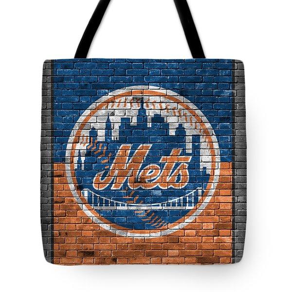 New York Mets Brick Wall Tote Bag