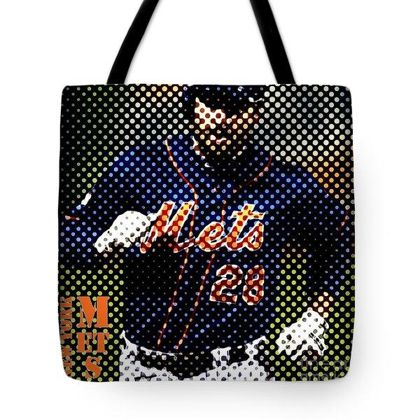 New York Mets Dots News Tote Bag