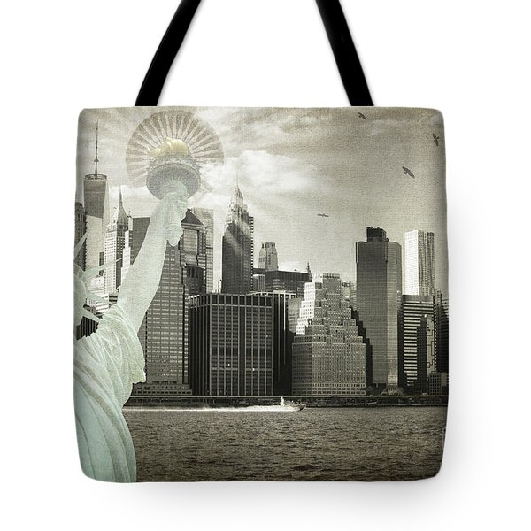 New York New York Da Tote Bag by Judy Wolinsky