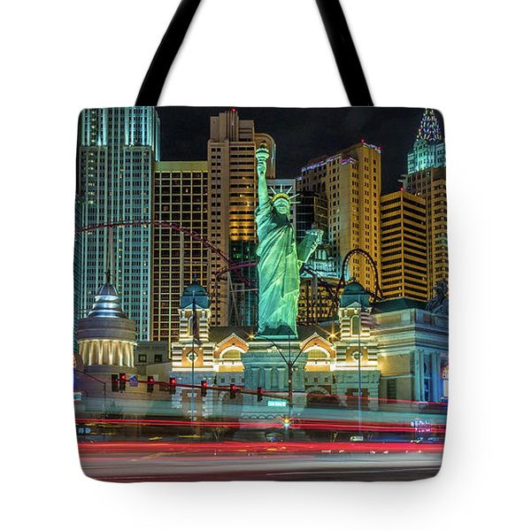 Tote Bag featuring the photograph New York New York by Michael Rogers