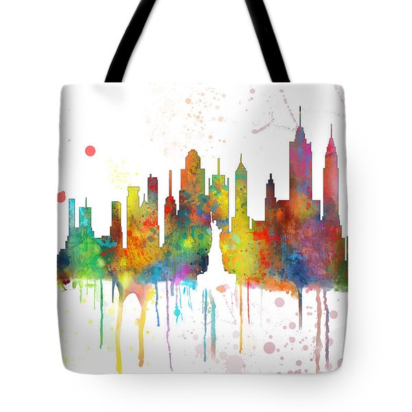 New York Ny Skyline Tote Bag