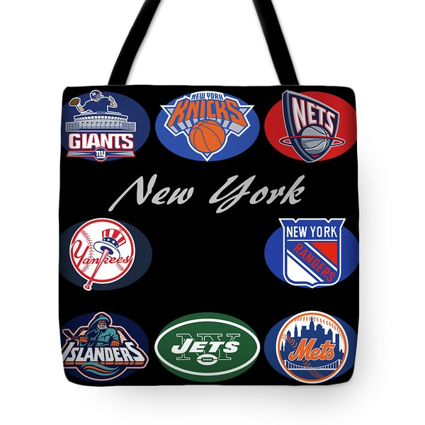New York Professional Sport Teams Collage  Tote Bag