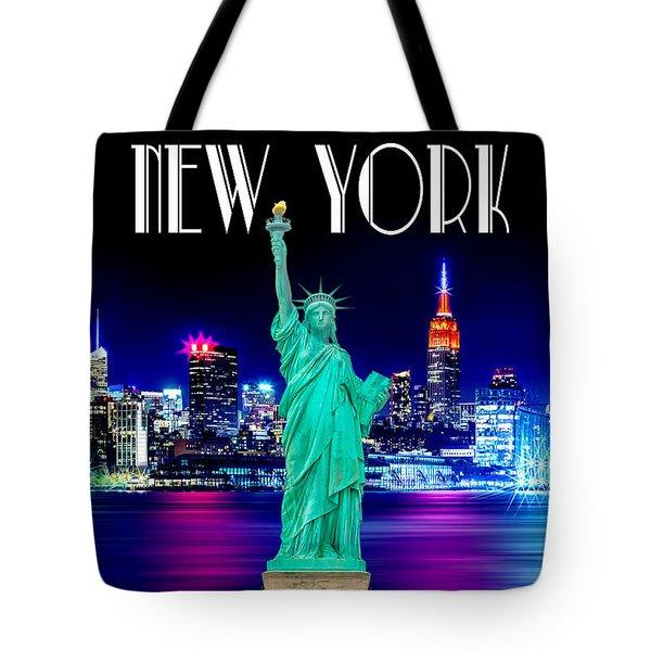 New York Shines Tote Bag by Az Jackson