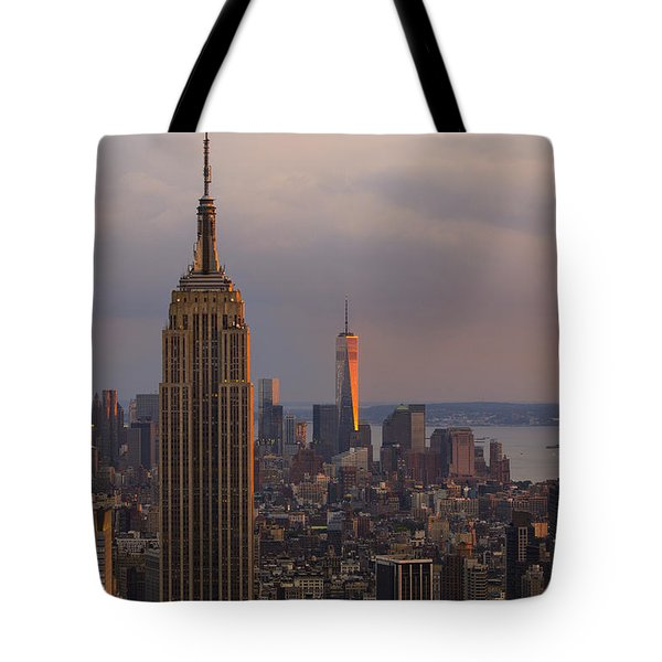 Tote Bag featuring the photograph New York Skyline by Keith Kapple