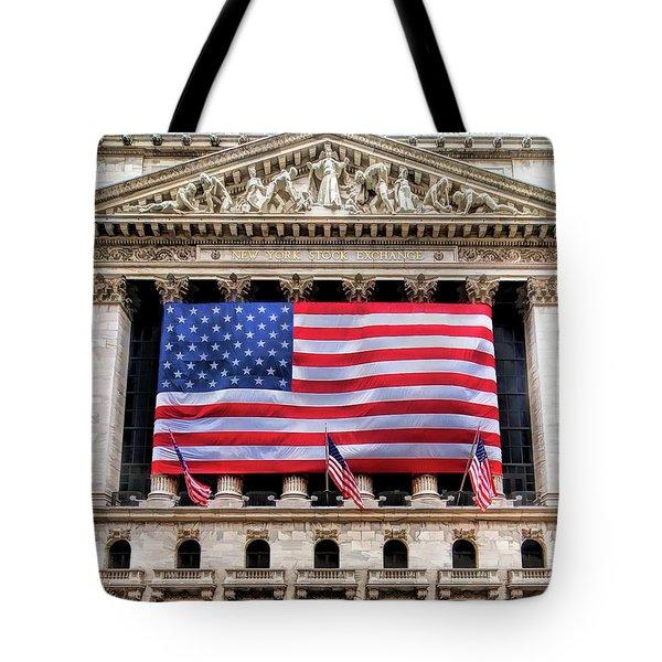 New York Stock Exchange Flag Tote Bag