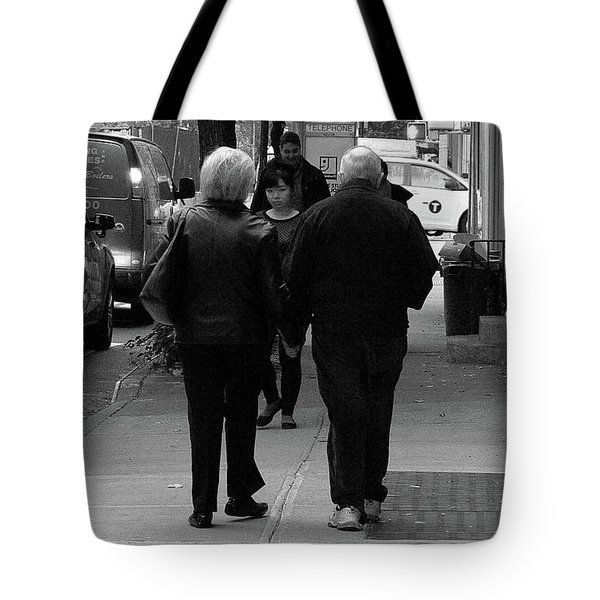 Tote Bag featuring the photograph New York Street Photography 75 by Frank Romeo