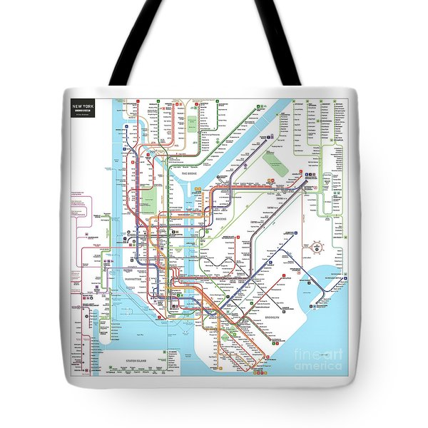 New York Subway Map Tote Bag