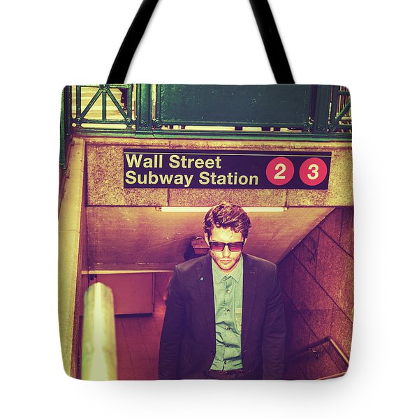 New York Subway Station Tote Bag