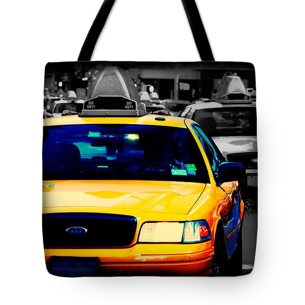 New York Taxi Tote Bag by Christopher Woods