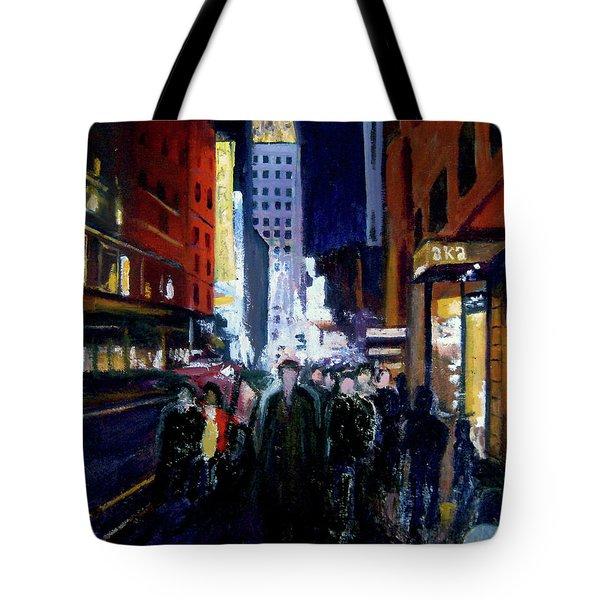 New York Theatre Crowd Tote Bag