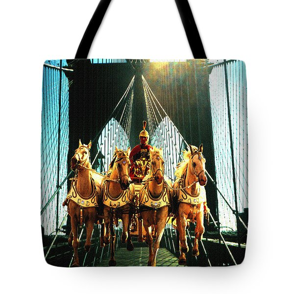New York Time Machine - Fantasy Art Collage Tote Bag by Art America Gallery Peter Potter