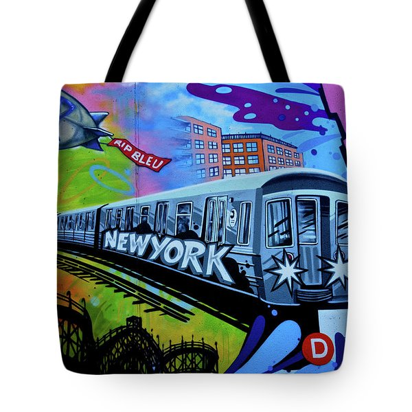 New York Train Tote Bag