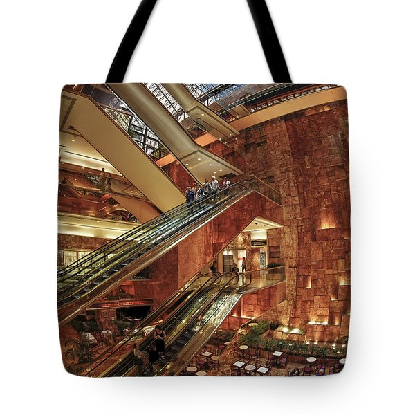 Tote Bag featuring the photograph New York Trump Tower  by Juergen Held
