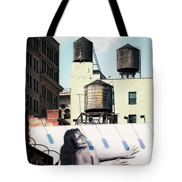 New York Water Towers 15 Tote Bag