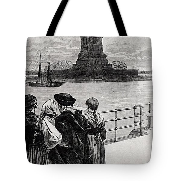 New York  Welcome To The Land Of Freedom Tote Bag