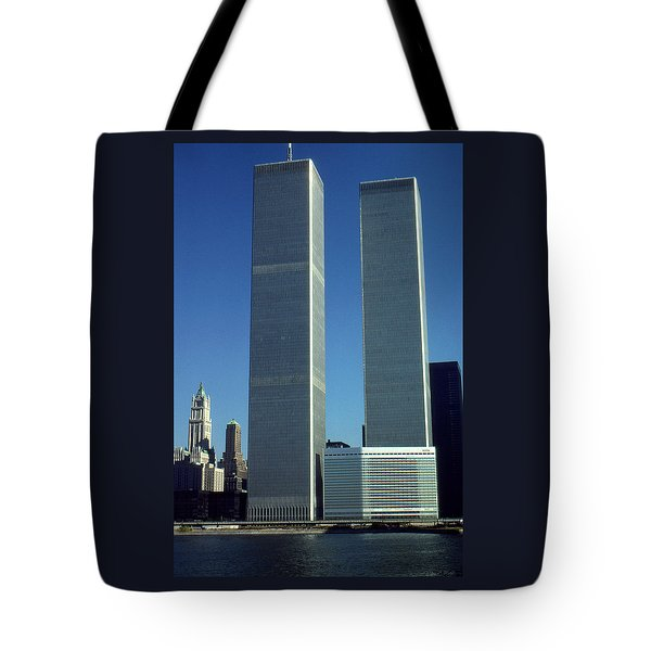 New York World Trade Center Before 911 - Architecture Tote Bag by Art America Gallery Peter Potter