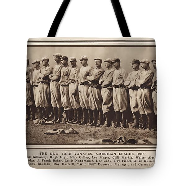 Tote Bag featuring the photograph New York Yankees 1916 by Daniel Hagerman