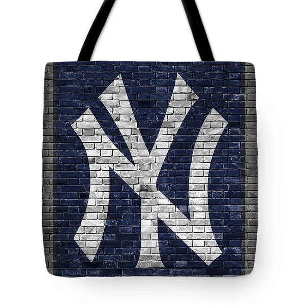 New York Yankees Brick Wall Tote Bag