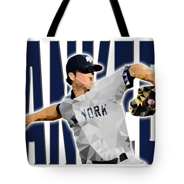Tote Bag featuring the digital art New York Yankees by Stephen Younts