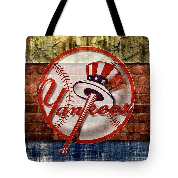 New York Yankees Top Hat Brick 2 Tote Bag