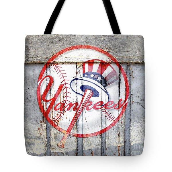 New York Yankees Top Hat Rustic 2 Tote Bag