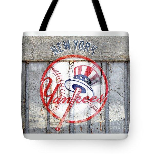 New York Yankees Top Hat Rustic Tote Bag