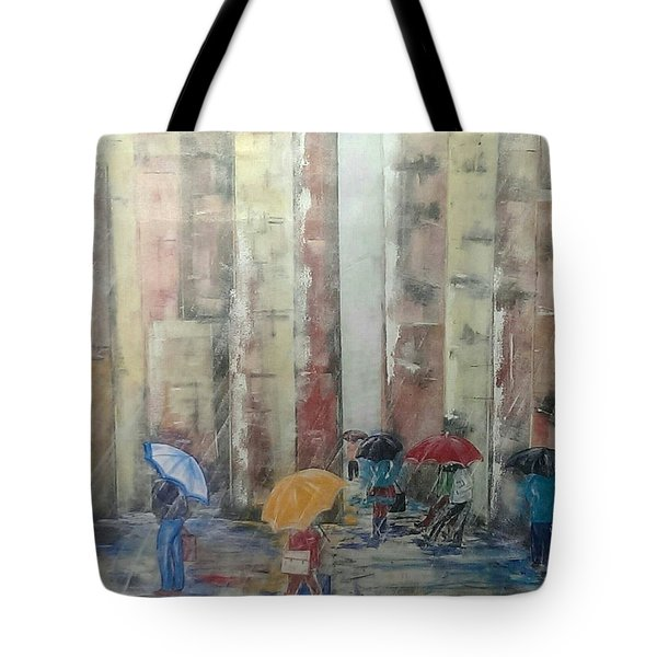 New Yorkers Tote Bag by Judi Goodwin