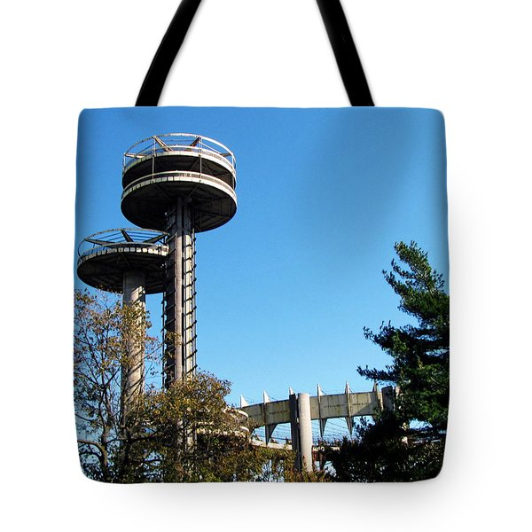 New York's 1964 World's Fair Observation Towers Tote Bag