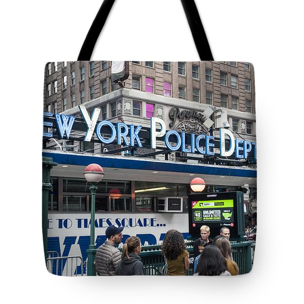 Tote Bag featuring the photograph New York's Finest by Allen Carroll